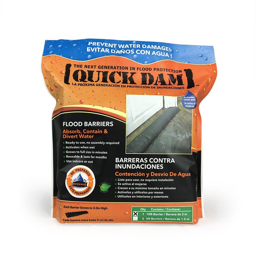 Quick Dam 10 ft. x 3.5 in. High Flood Barrier