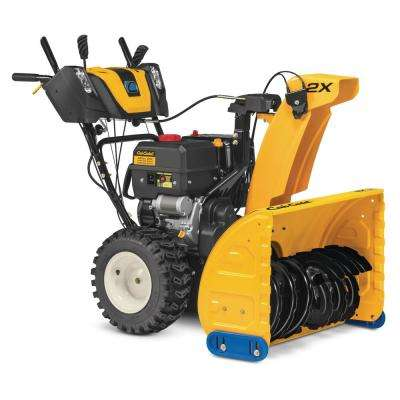 30 in. 357cc Two-Stage Electric Start Gas Snow Blower with Power Steering and Steel Chute