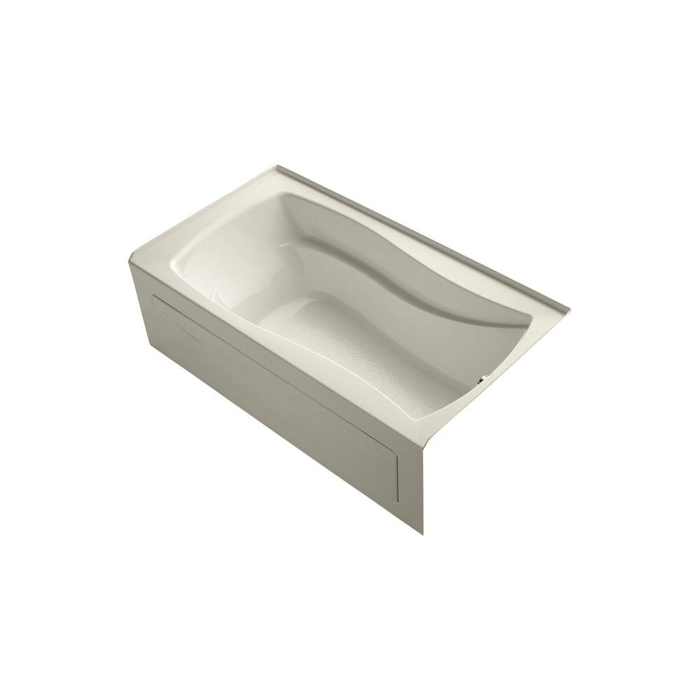KOHLER Mariposa 5.5 ft. Right Drain Bathtub in Almond