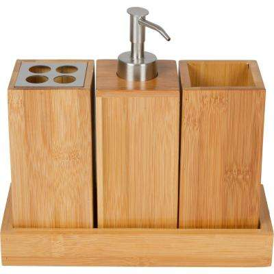 Bath Set Bath Caddy in 100% Natural Bamboo