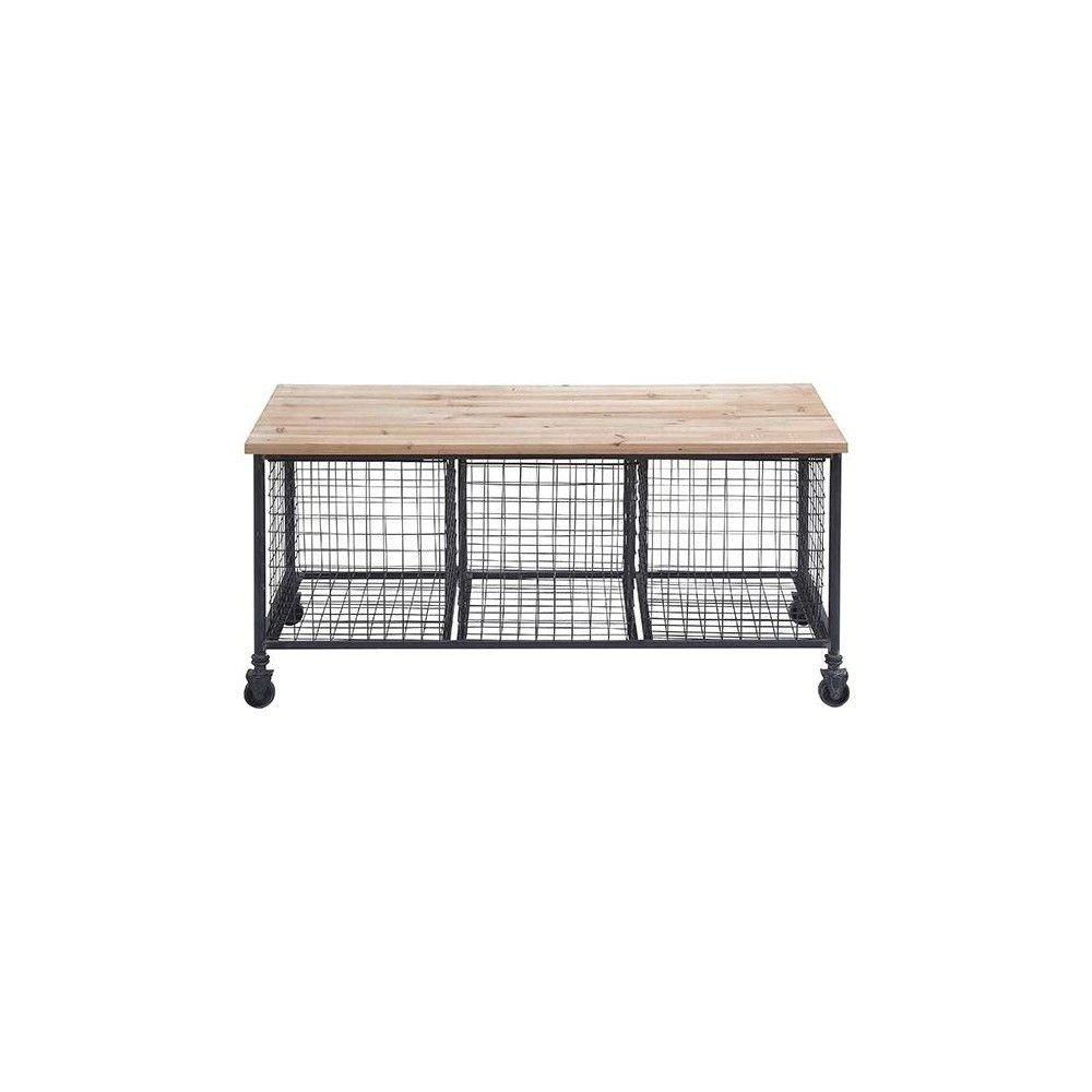 Hopper Black Storage Bench 50204 The Home Depot