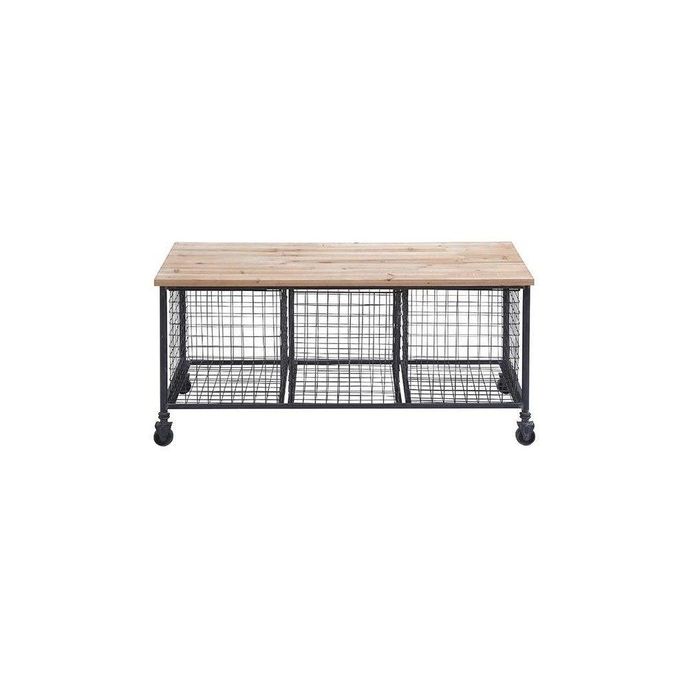Hopper Black Storage Bench by