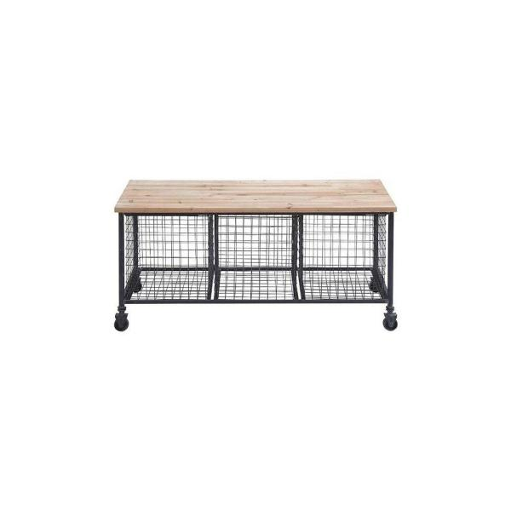 Hopper Black Storage Bench 50204