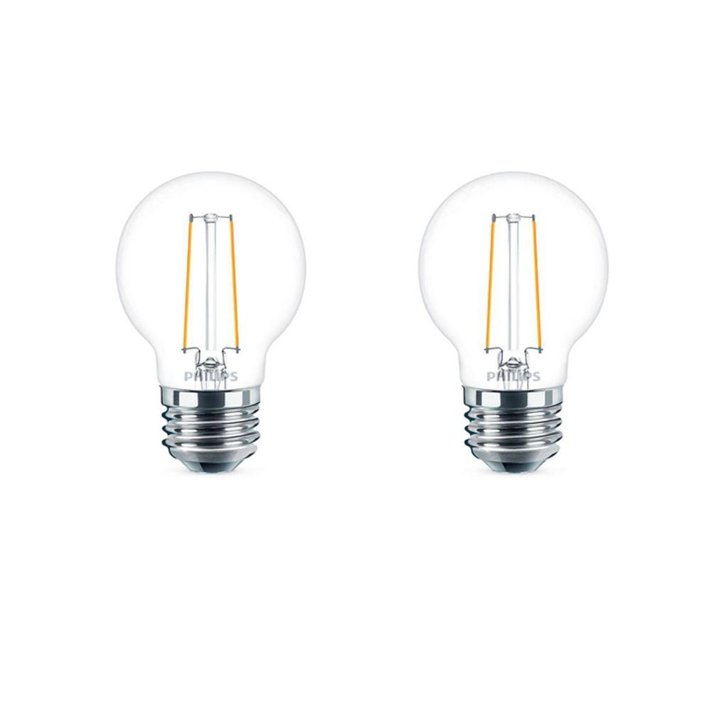 25-Watt Equivalent G16.5 Dimmable LED Light Bulb Soft White Globe (2-Pack)