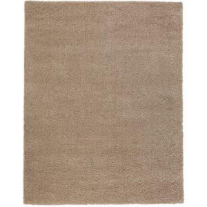 Shaggy Beige 7 ft. 10 inch x 9 ft. 10 inch Area Rug by