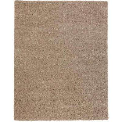 Shaggy Beige 9 ft. 3 in. x 12 ft. 6 in. Area Rug