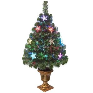 6806074d92f0 Fiber Optic Evergreen Artificial Christmas Tree with Star Decoration