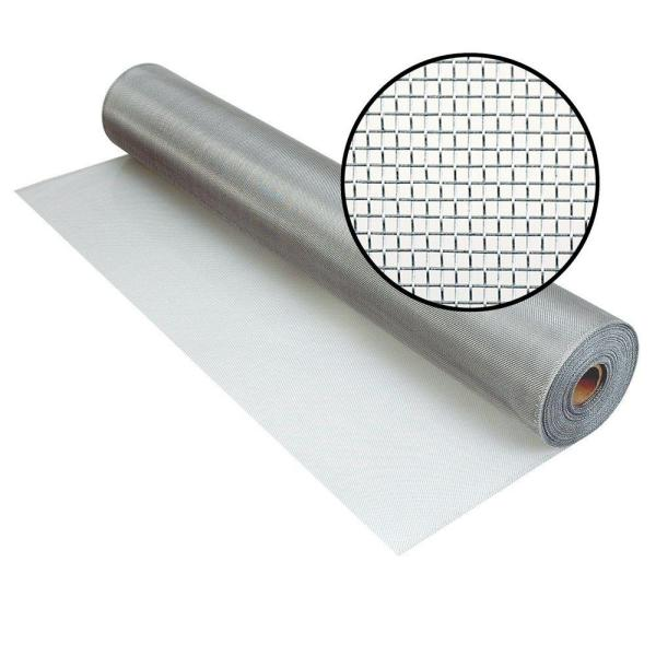 24 in. x 100 ft. Brite Aluminum Screen