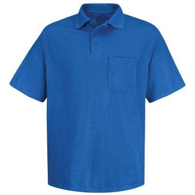 Men's Size M Royal Blue Polyester Solid Shirt