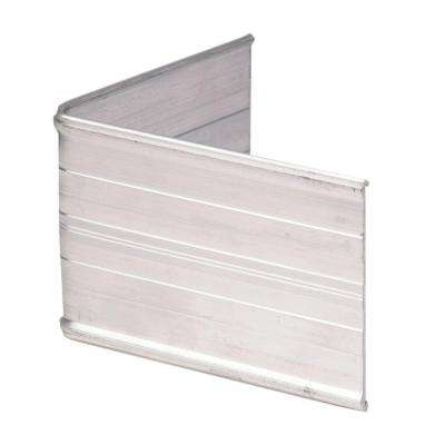 90° Aluminum Landscape Edging Silver Corner Connector (4-Count)
