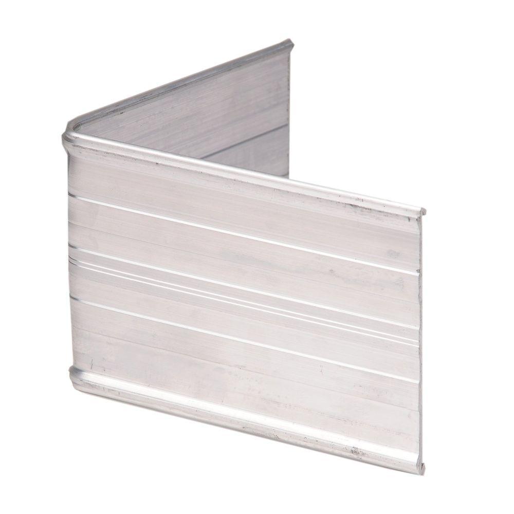 90° Aluminum Landscape Edging Silver Corner Connector (4-Count)