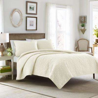 Felicity 3-Piece Ivory King Quilt Set