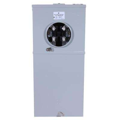 150 Amp 8 Space 16 Circuit Outdoor Combination Main Breaker/Ringless Meter Socket Load Center