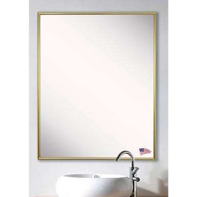 30.125 in. x 24.125 in. Tango Polished Gold Vanity Wall Mirror