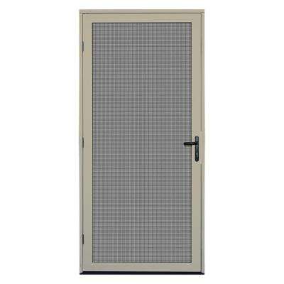 36 in. x 80 in. Almond Surface Mount Meshtec Ultimate Screen Door