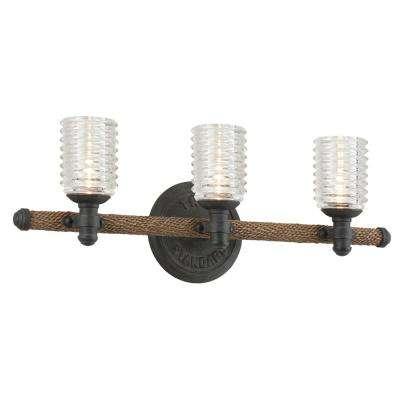 Embarcadero 3-Light Shipyard Bronze Vanity Light