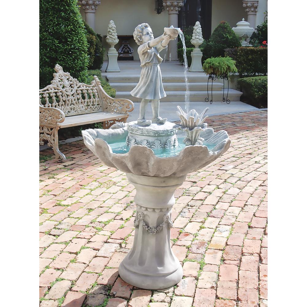 L'Acqua di Vita Stone Bonded Resin Sculptural Fountain
