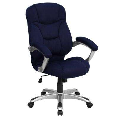 Cloth Office Chairs Intended High Back Navy Blue Microfiber Contemporary Executive Swivel Office Chair Fabric Chairs Home Furniture