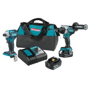 18-Volt LXT Lithium-Ion Brushless Cordless Combo Kit 5.0 Ah (2-Piece)