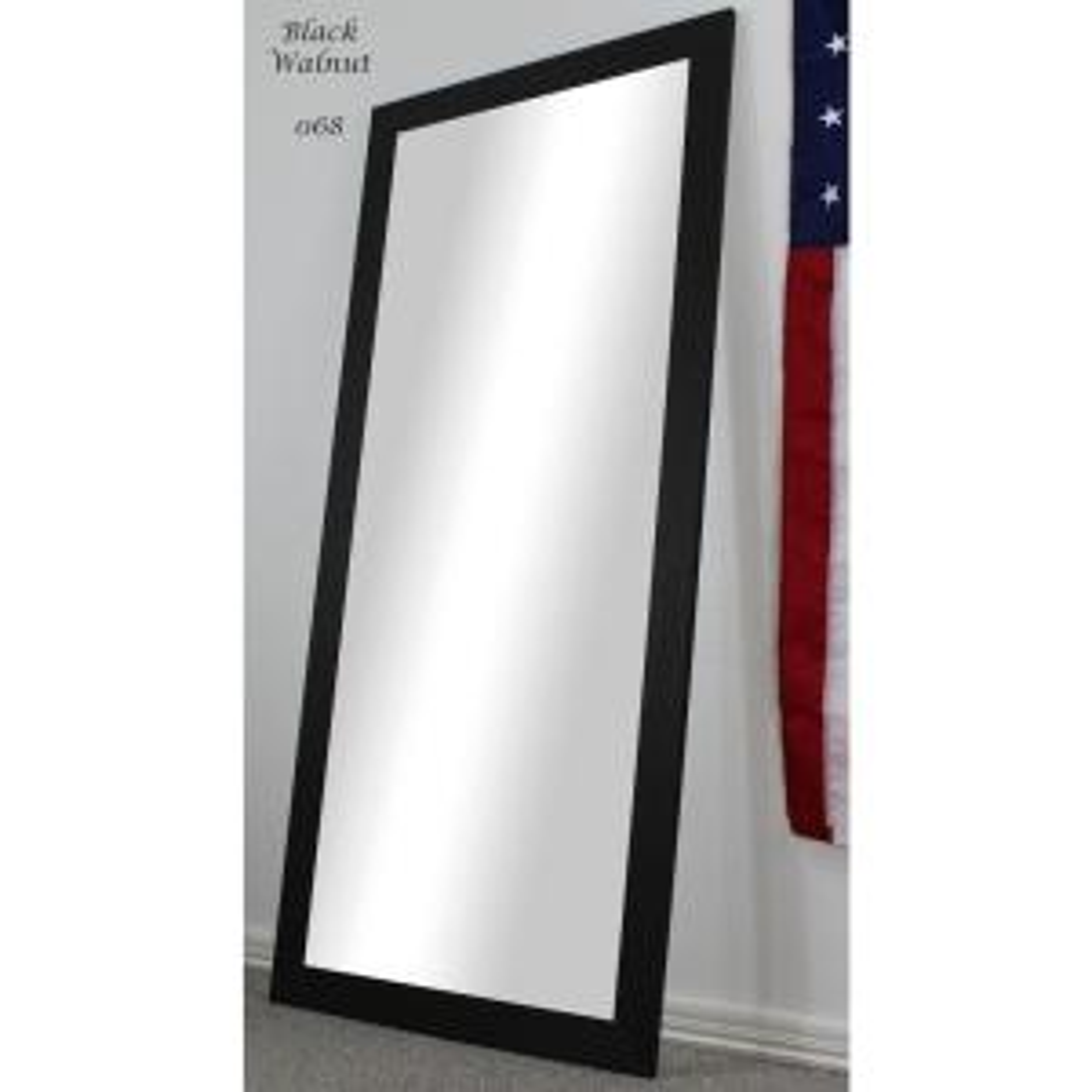 Oversized Dark Walnut Composite Rustic Mirror (70.5 in. H X 31.5 in. W)