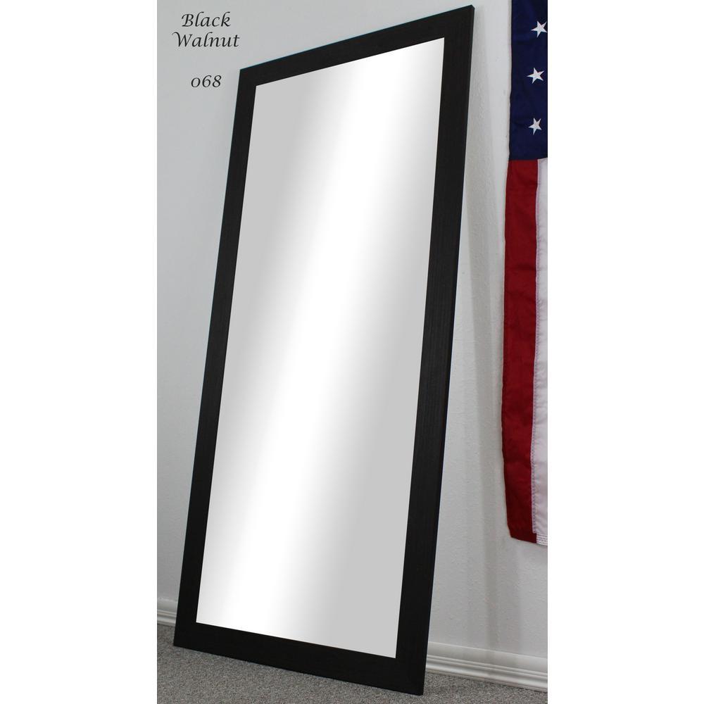 70.5 in. x 31.5 in. Black Walnut Full Body/Floor Length Vanity Mirror