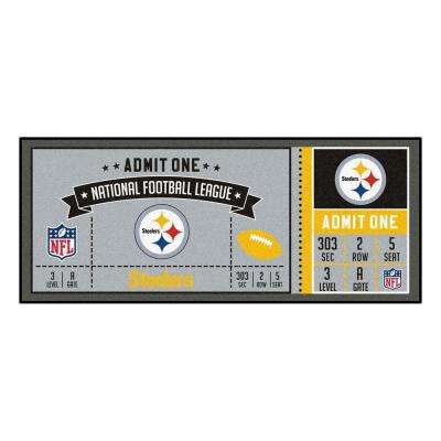 NFL - Pittsburgh Steelers 30 in. x 72 in. Indoor Ticket Runner Rug