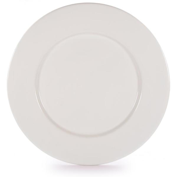 Rolled Edge Cream Enamelware Dinner Plate (Set of 4)
