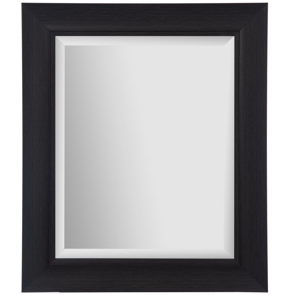 Scoop Framed Beveled Rectaungular Black Decorative Mirror