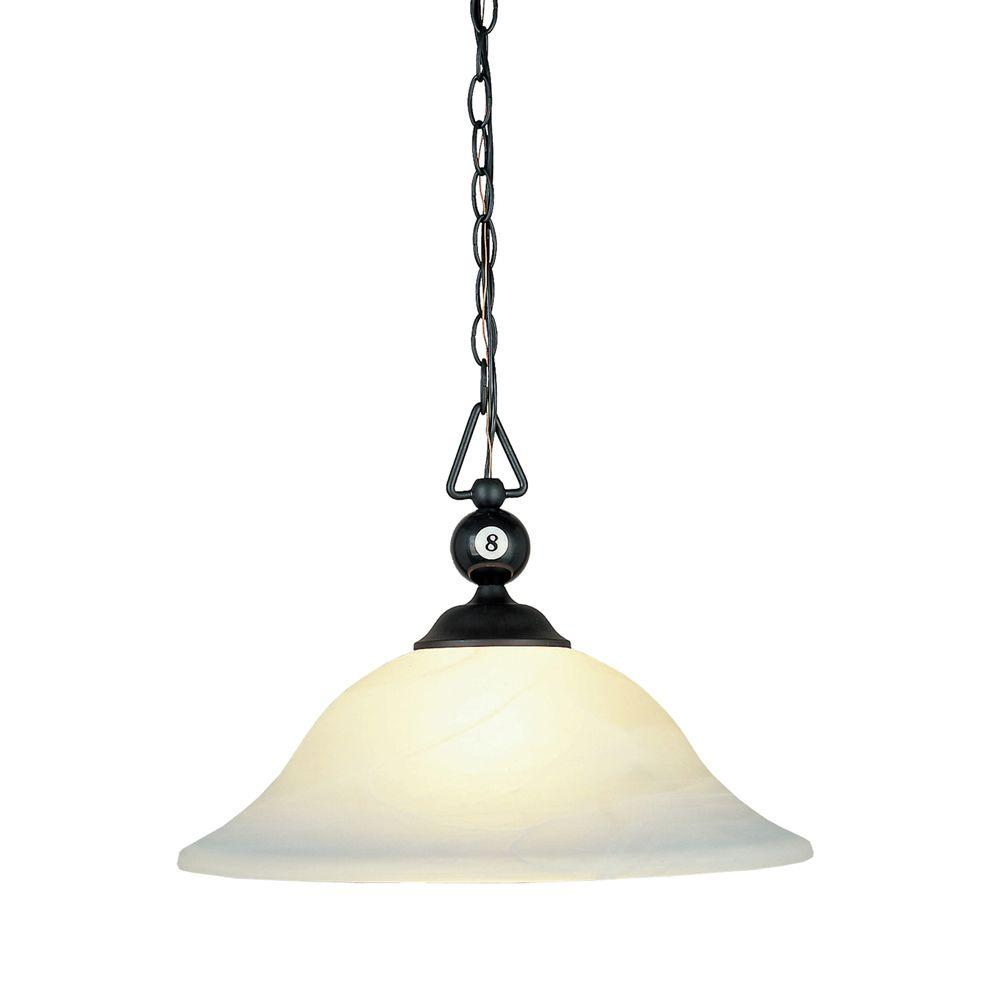 Titan Lighting 1-Light Mount Matte Black Ceiling Island Light