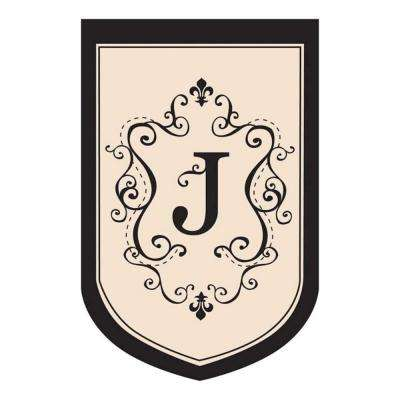 3 ft. x 4-1/2 ft. Monogrammed J Applique Estate House Flag