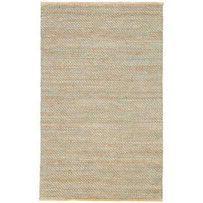 Natural Deep Jungle 4 ft. x 6 ft. Stripe Area Rug