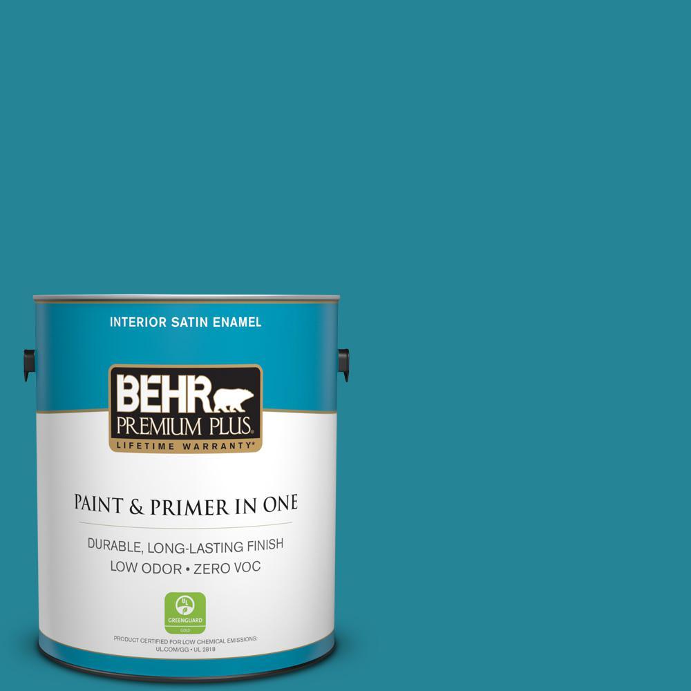 BEHR Premium Plus 1-gal. #M470-6 Precious Stone Satin Enamel Interior Paint