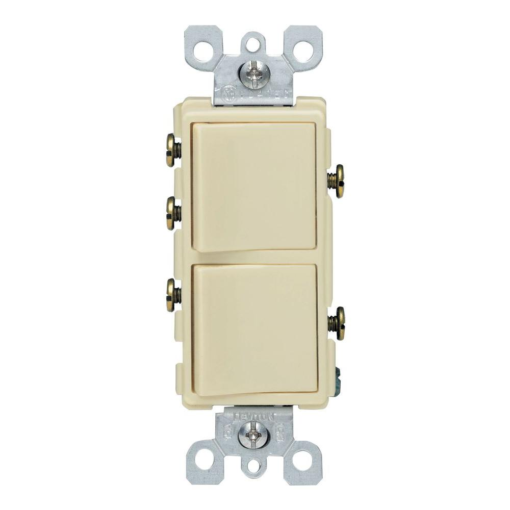 Leviton Decora 15 Amp 3-way Ac Combination Switch
