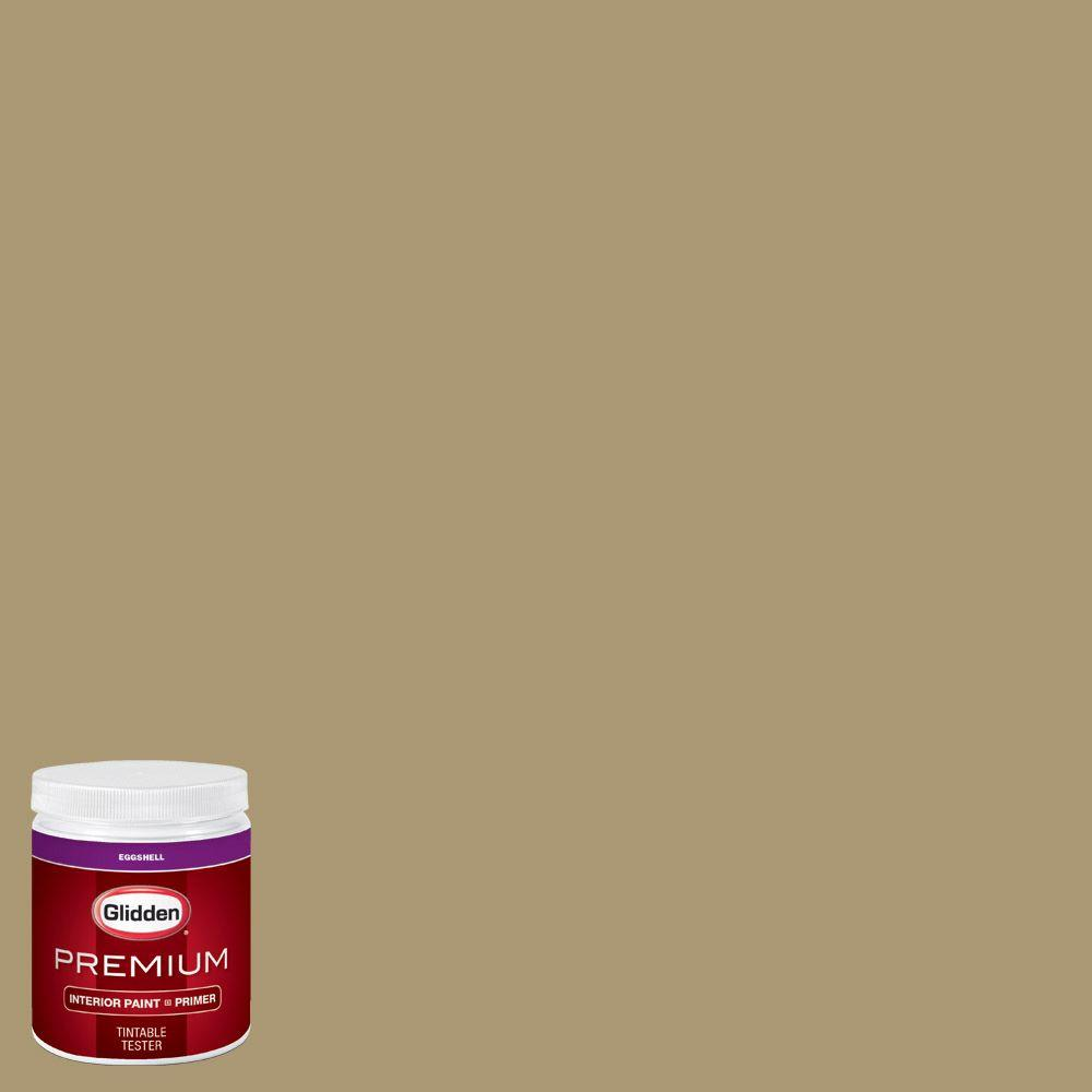 Glidden premium 8 oz hdgy52d olive twig eggshell interior paint sample with primer hdgy52dp for Glidden premium interior paint reviews