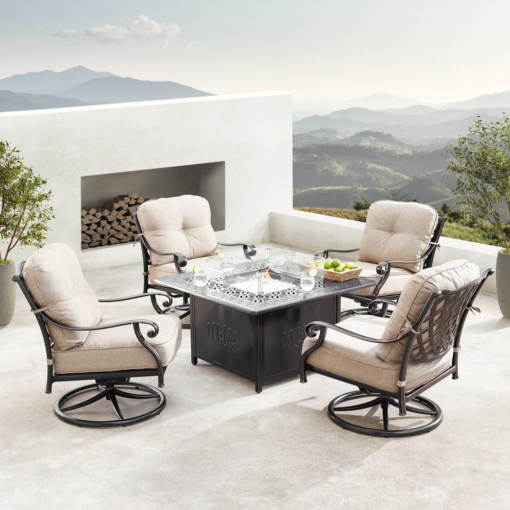Oakland Living Finland Luxurious Antique Copper 5-Piece ... on Oakland Living Patio Sets id=63767