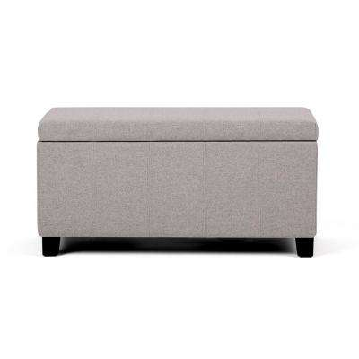 Dover Cloud Grey Storage Ottoman Bench