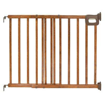 32 in. Deluxe Stairway Simple To Secure Wood Gate