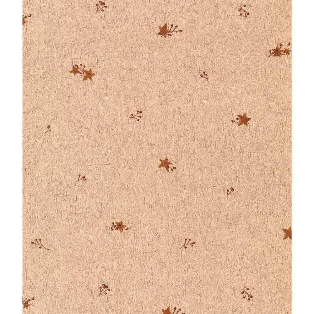York Wallcoverings 56 sq. ft. Tin Star and Berries Wallpaper-DISCONTINUED