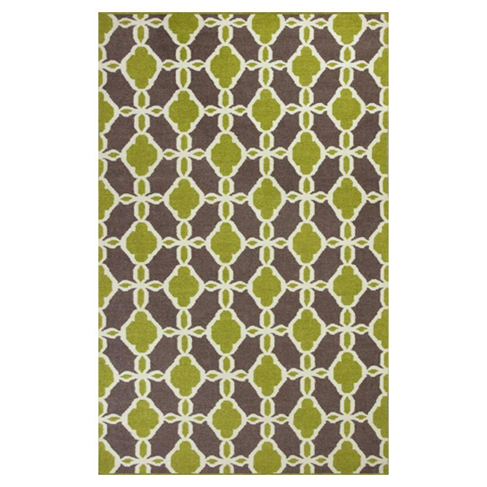 Kas Rugs Moroccan View Green/Beige 5 ft. x 7 ft. 6 in. Area Rug