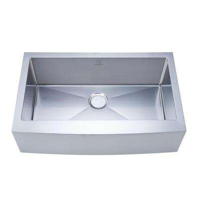 NationalWare Apron/Farmhouse Stainless Steel 33 in. 2-Hole Single Bowl Kitchen Sink in Stainless Steel