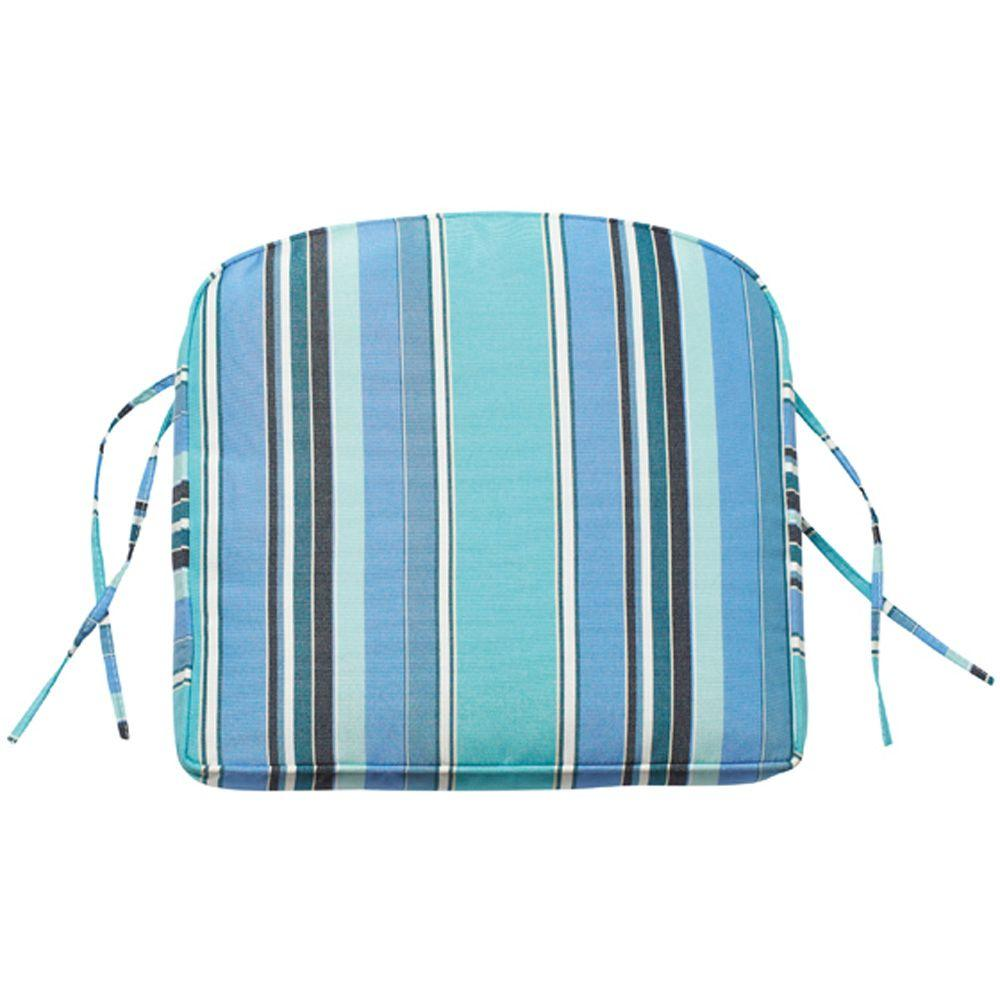Home Decorators Collection Sunbrella Dolce Oasis Contoured Outdoor Seat Cushion
