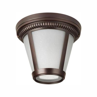 Westport Collection 1-Light Antique Bronze LED Outdoor Flushmount