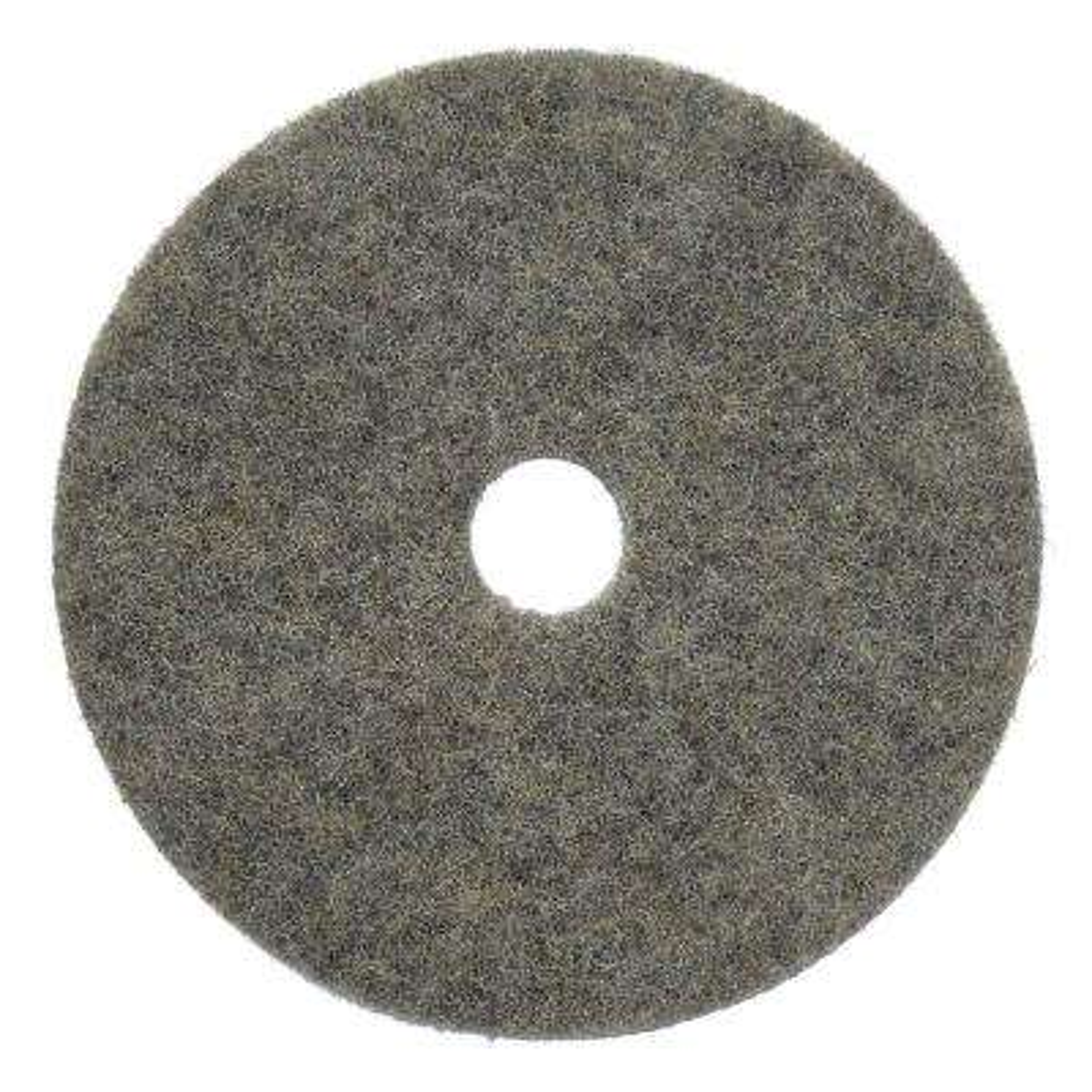 20 in. Buckaroo Black/White Natural Fiber Hard Finish Floor Burnishing Pad (5-Pack)