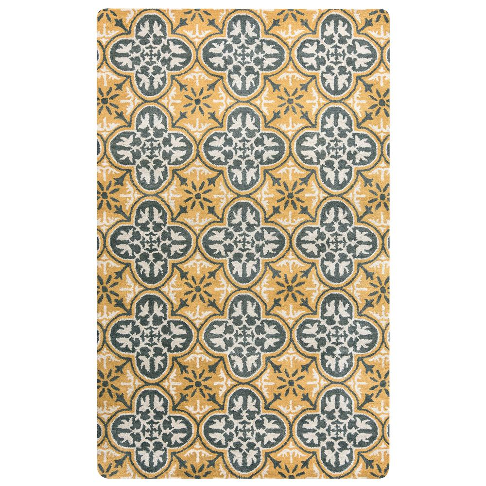 Mohawk home bazaar gemma gold 8 ft x 10 ft area rug for Home inspired by india rug