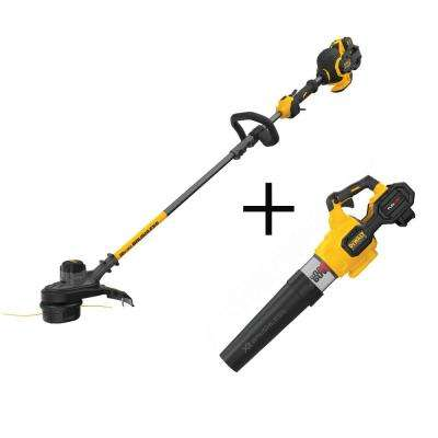 15 in. 60-Volt MAX Li-Ion Cordless FLEXVOLT Brushless String Grass Trimmer w/Bonus 125 MPH 600 CFM Blower(Tool-Only)