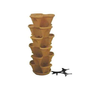 12 in. Self Watering Tuscany Stacking Planter Set (6-Pack)