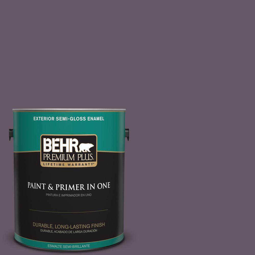 1 gal. #PPU17-05 Preservation Plum Semi-Gloss Enamel Exterior Paint