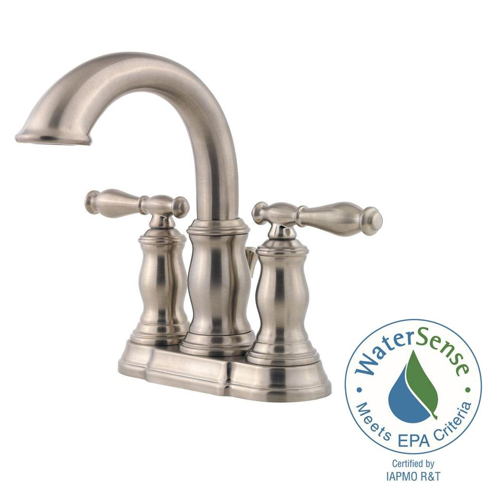 Pfister Hanover 4 in. Centerset 2-Handle Bathroom Faucet in ...