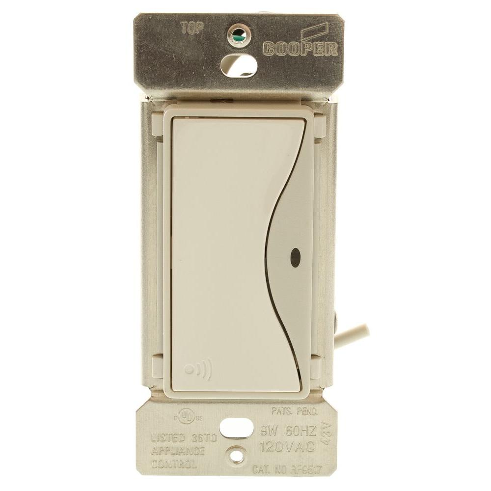 Home Light Switches: Eaton Aspire RF Accessory Switch For RF9501 Wireless Light