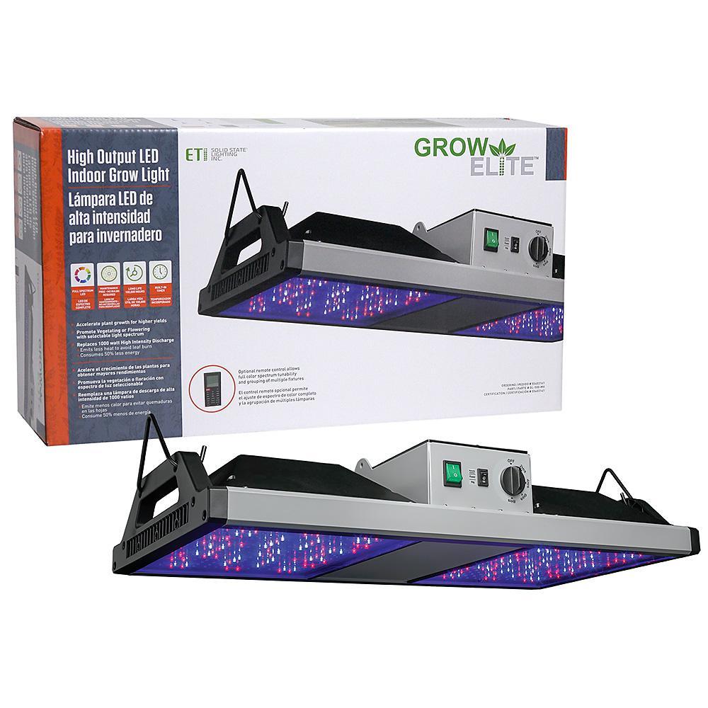 Indoor Grow Lights Home Depot: ETi GrowElite Brushed Nickel Integrated LED 500-Watt High